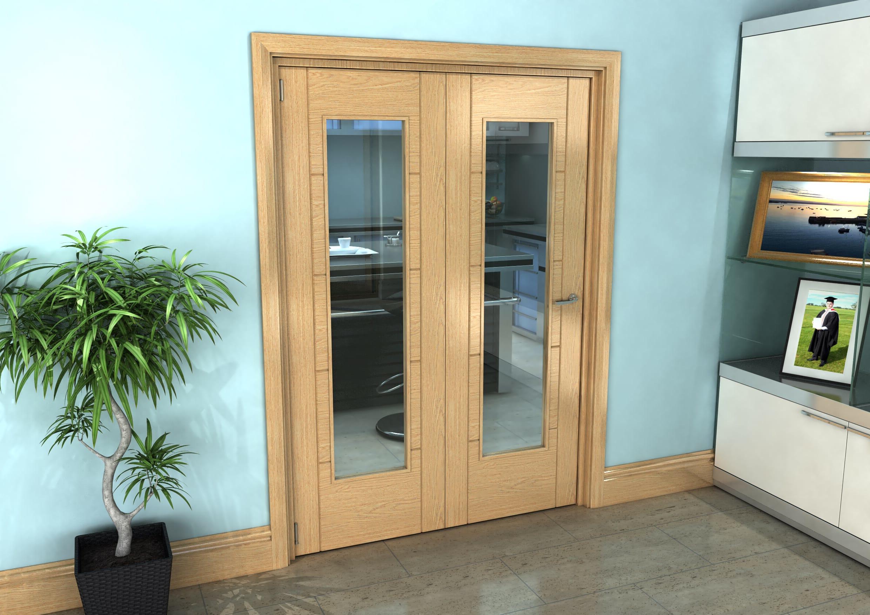 Oak Iseo Roomfold Grande - Pattern 10 Clear Prefinished Image