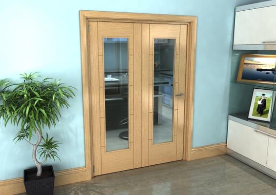 Oak Iseo Roomfold Grande - Pattern 10 Clear Prefinished