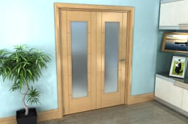 Iseo Oak Roomfold Grande - Pattern 10 Frosted Prefinished Image