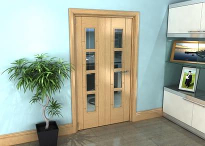 Oak Iseo Roomfold Grande - 4 Light Clear Prefinished