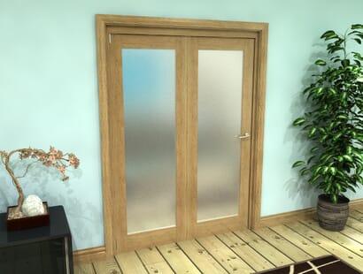 Oak Glazed Roomfold Grande - Frosted Prefinished Image