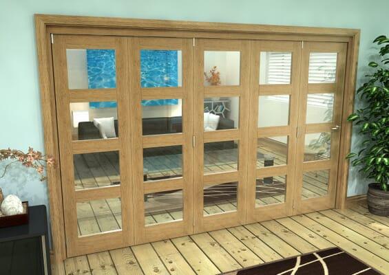 Oak 4L Roomfold Grande - Clear Prefinished