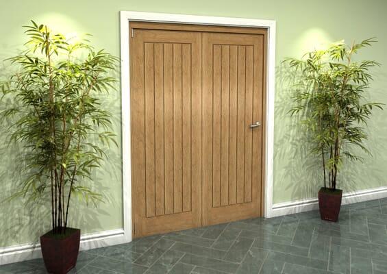 Prefinished Mexicano Oak 2 Door Roomfold Grande (2 + 0 x 686mm Doors)