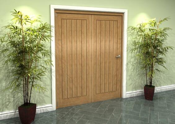 Prefinished Mexicano Oak 2 Door Roomfold Grande (2 + 0 x 762mm Doors)