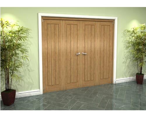 Oak Mexicano Roomfold Grande - Prefinished Internal Bifold Doors