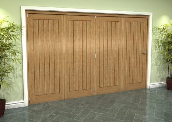 Prefinished Mexicano Oak 4 Door Roomfold Grande (4 + 0 x 762mm Doors)