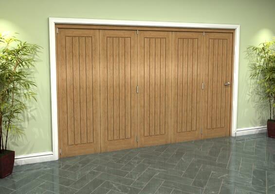 Prefinished Mexicano Oak 5 Door Roomfold Grande (5 + 0 x 610mm Doors)