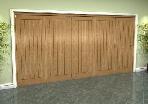 Prefinished Mexicano Oak 5 Door Roomfold Grande (5 + 0 x 762mm Doors)