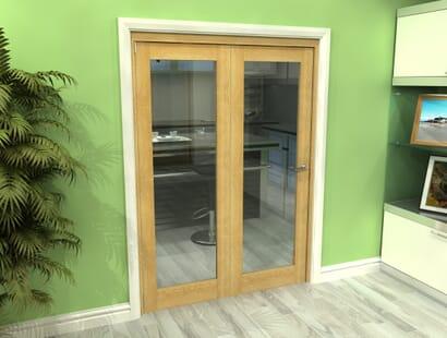 Oak Glazed Roomfold Grande - Clear Unfinished Image