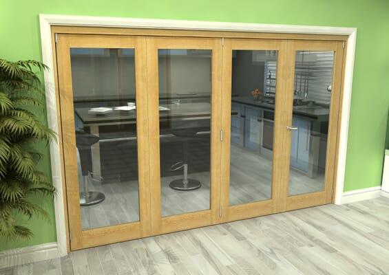 Glazed Oak 4 Door Roomfold Grande (3 + 1 x 762mm Doors)
