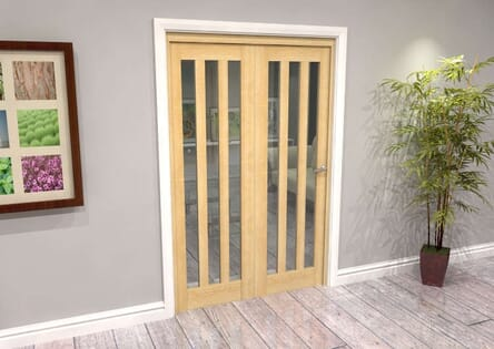 Oak Aston Roomfold Grande - Clear Unfinished