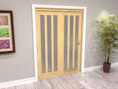 Oak Aston Roomfold Grande - Frosted Unfinished Image