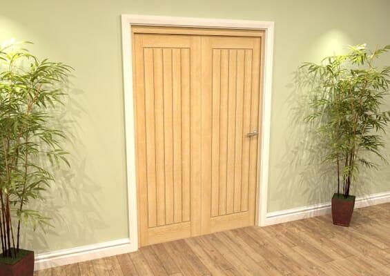 Mexicano Oak 2 Door Roomfold Grande (2 + 0 x 457mm Doors)
