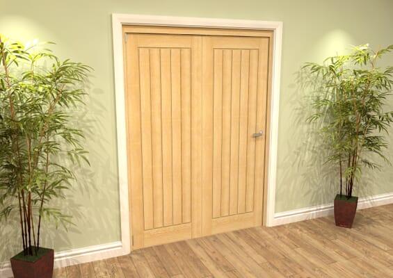 Mexicano Oak 2 Door Roomfold Grande (2 + 0 x 686mm Doors)