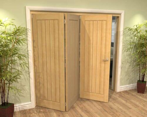 Oak Mexicano Roomfold Grande Internal Bifold Doors