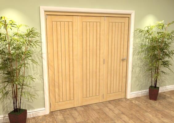 Mexicano Oak 3 Door Roomfold Grande (3 + 0 x 610mm Doors)