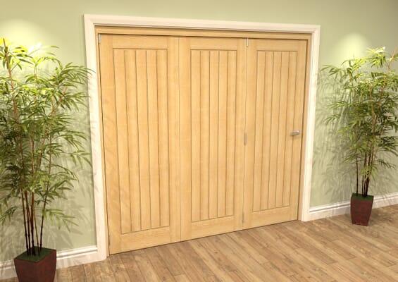 Mexicano Oak 3 Door Roomfold Grande (3 + 0 x 686mm Doors)