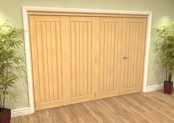 Mexicano Oak 4 Door Roomfold Grande (3 + 1 x 686mm Doors)