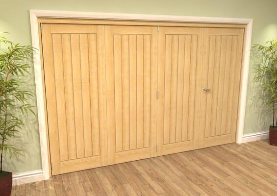 Mexicano Oak 4 Door Roomfold Grande (3 + 1 x 762mm Doors)