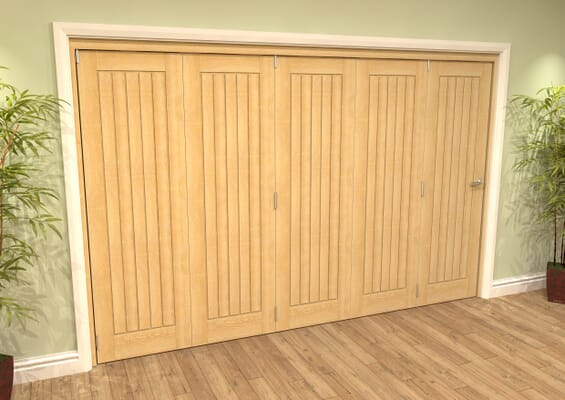 Mexicano Oak 5 Door Roomfold Grande (5 + 0 x 686mm Doors)