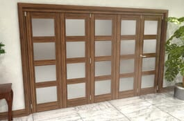 Walnut 4L Roomfold Grande - Frosted Prefinished Image