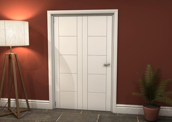 White Iseo 2 Door Roomfold Grande (2 + 0 x 610mm Doors)