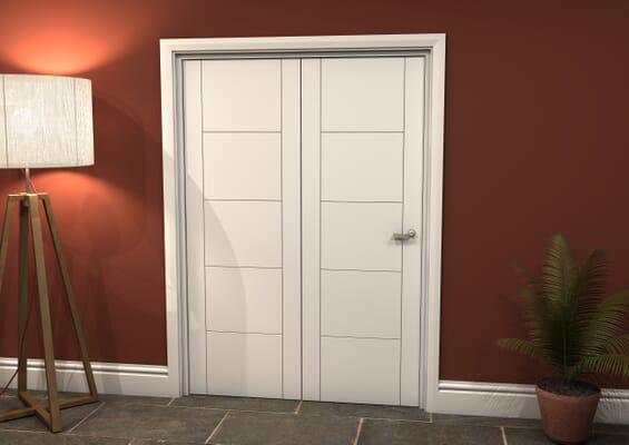 White Iseo 2 Door Roomfold Grande (2 + 0 x 686mm Doors)