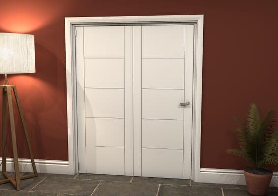 White Iseo 2 Door Roomfold Grande (2 + 0 x 762mm Doors)