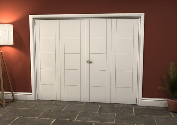 White Iseo 4 Door Roomfold Grande (2 + 2 x 610mm Doors)