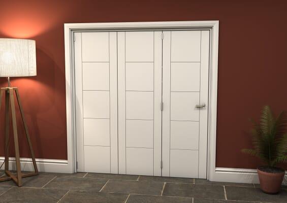 White Iseo 3 Door Roomfold Grande (3 + 0 x 610mm Doors)