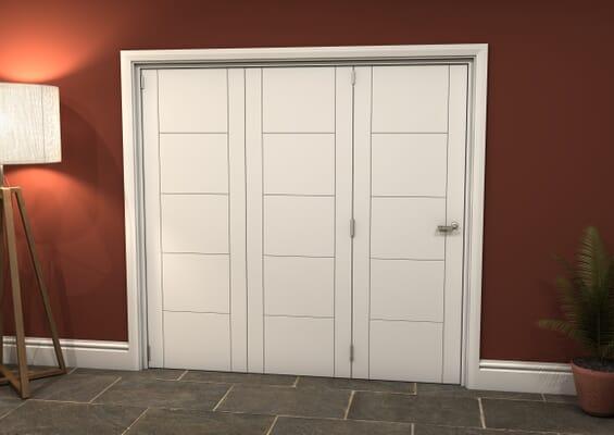 White Iseo 3 Door Roomfold Grande (3 + 0 x 686mm Doors)