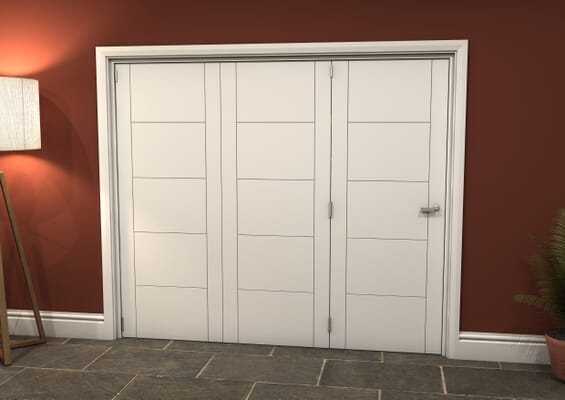 White Iseo 3 Door Roomfold Grande (3 + 0 x 762mm Doors)