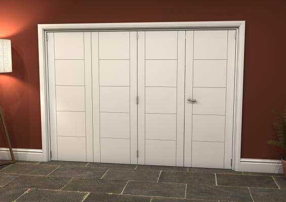 White Iseo 4 Door Roomfold Grande (3 + 1 x 686mm Doors)