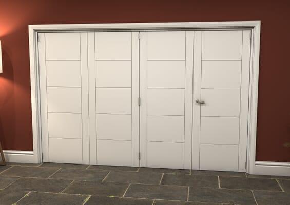 White Iseo 4 Door Roomfold Grande (3 + 1 x 762mm Doors)