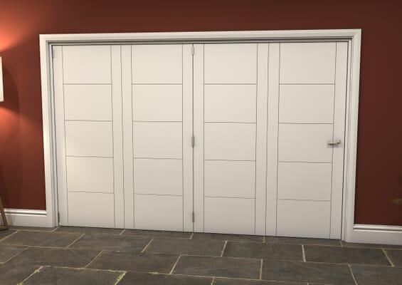 White Iseo 4 Door Roomfold Grande (4 + 0 x 762mm Doors)