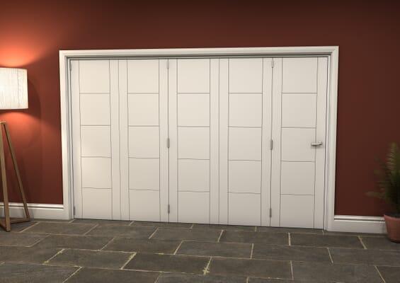 White Iseo 5 Door Roomfold Grande (5 + 0 x 610mm Doors)