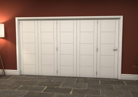 White Iseo 5 Door Roomfold Grande (5 + 0 x 686mm Doors)