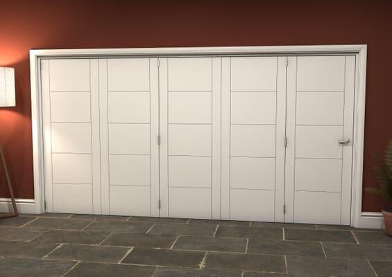 White Iseo 5 Door Roomfold Grande (5 + 0 x 762mm Doors)