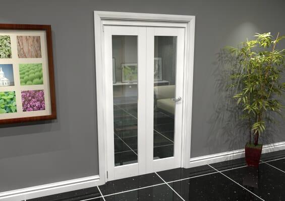 White P10 Roomfold Grande (2 + 0 x 419mm Doors)
