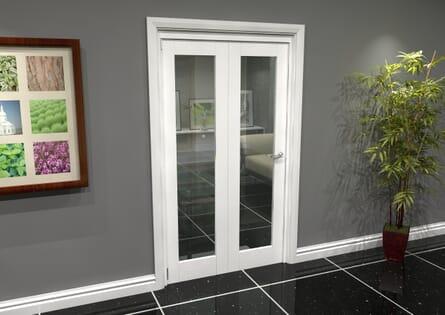 White Glazed Roomfold Grande - Clear