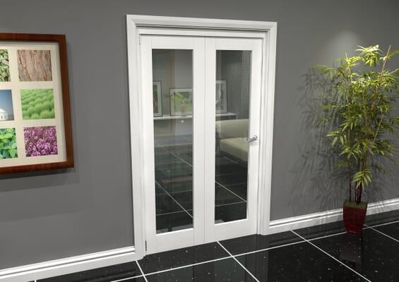 White P10 Roomfold Grande (2 + 0 x 573mm Doors)
