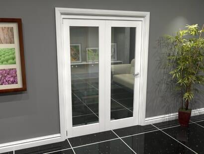 White Glazed Roomfold Grande - Clear Image