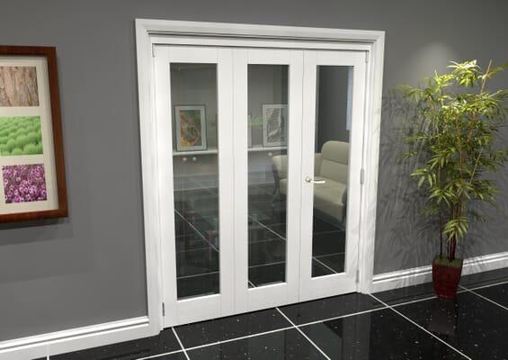White P10 Roomfold Grande (2 + 1 x 381mm Doors)