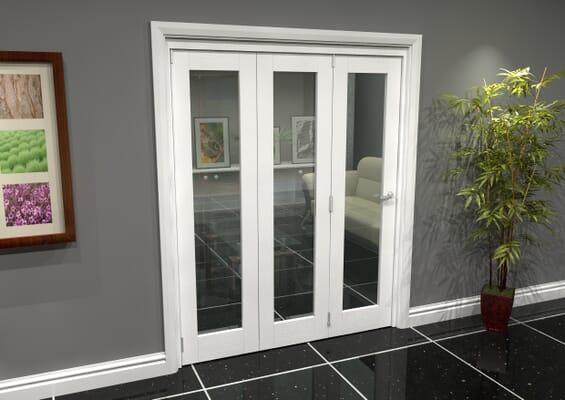White P10 Roomfold Grande (3 + 0 x 381mm Doors)