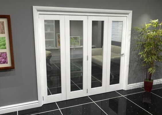 White P10 Roomfold Grande (4 + 0 x 419mm Doors)