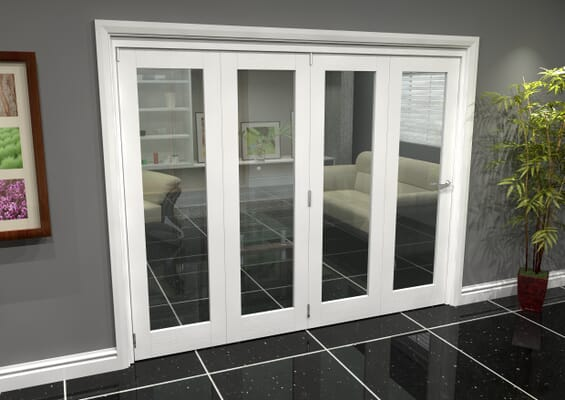 White P10 Roomfold Grande (4 + 0 x 610mm Doors)