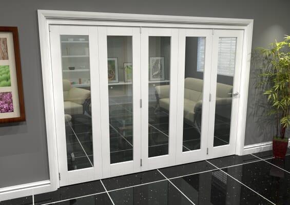White P10 Roomfold Grande (5 + 0 x 381mm Doors)