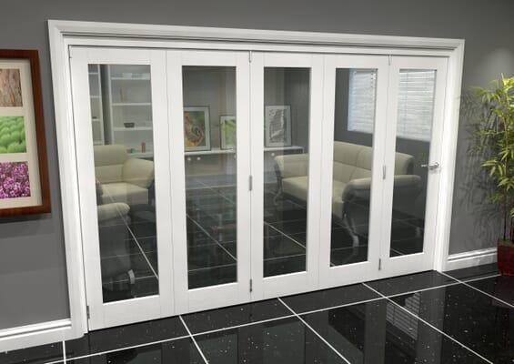 White P10 Roomfold Grande (5 + 0 x 762mm Doors)