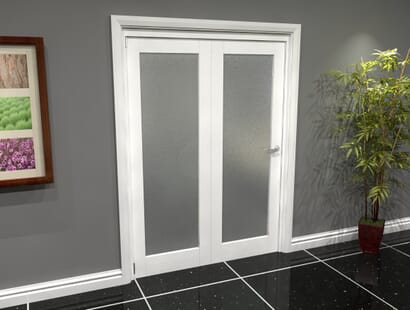 White Glazed Roomfold Grande - Frosted Image