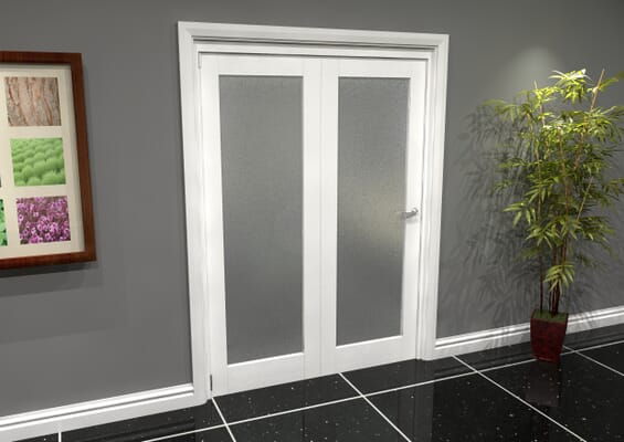 White P10 Frosted Roomfold Grande (2 + 0 x 762mm Doors)